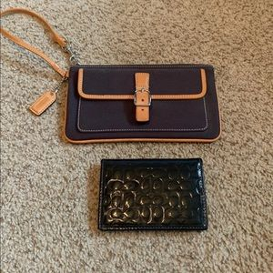 Coach wallet and Wristlet